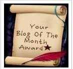Blog of the Month-Award