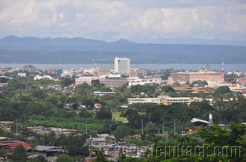 Davao City wrapped in green.