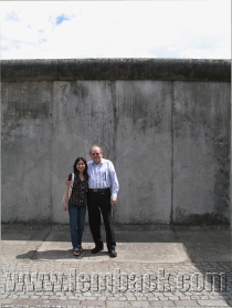 The Berlin Wall in the background