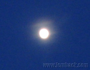 full moon-blue sky