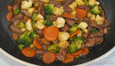woked veggies