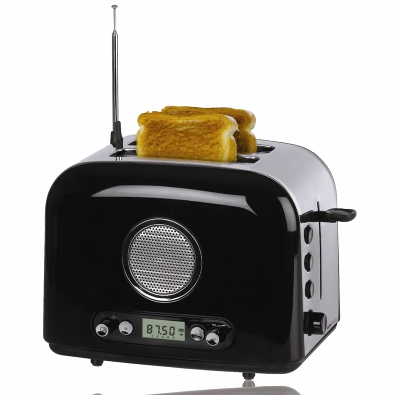 bread toaster with radio