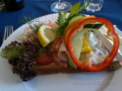 stuffed open sandwich