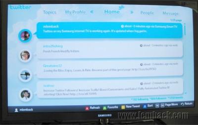 Twitter in Samsung Internet@TV