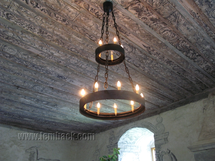 Old chandelier at Torpa Stenhus