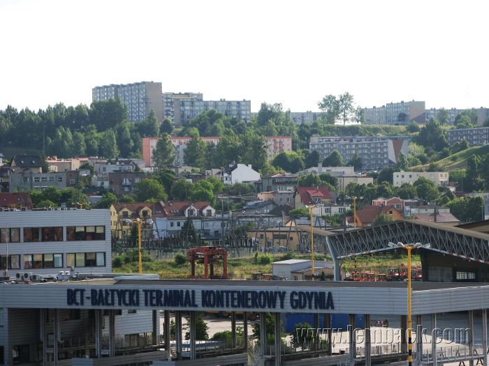 View from the Port of Gdynia
