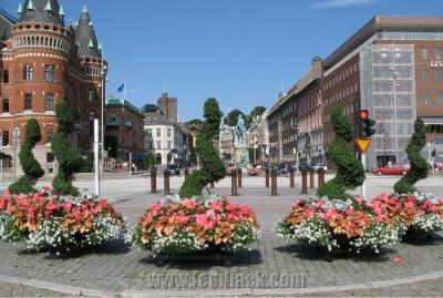 city flower arrangement - Helsingborg