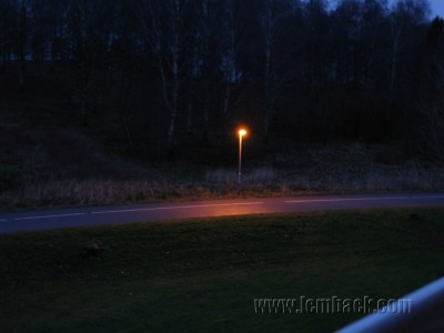 December darkness in Sweden at 4 p.m.