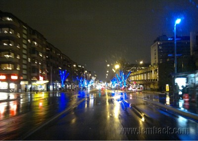 Blue lights in Gothenburg, Sweden