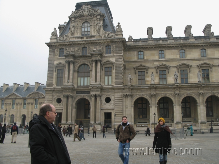 Hubby at the Louvre