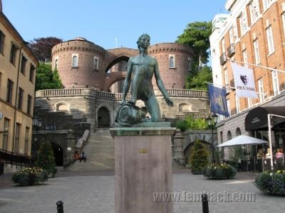 Naked David statue in Helsingborg