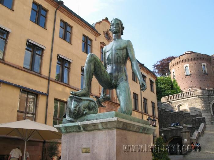 David statue in Helsingborg, Sweden