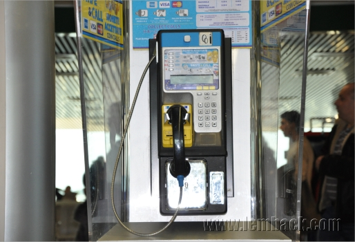 Pay phone at Leonardo da Vinci Airport