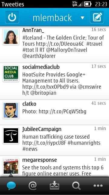 Tweeties on Nokia N8