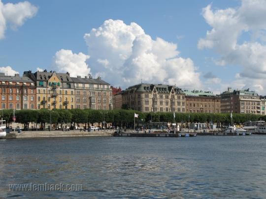 Across Nybrokajen in Stockholm