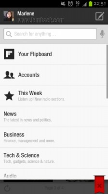 Categories on Flipboard