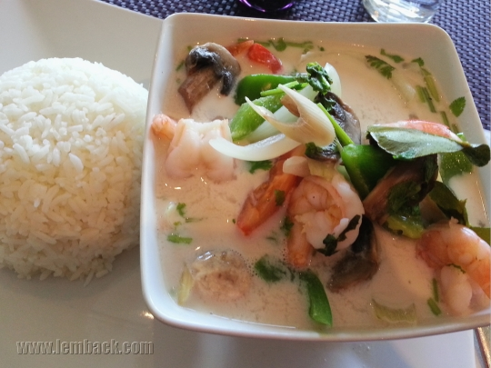 Tom Yam shrimp soup