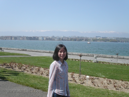 Stopping by at Lake Léman in Geneva