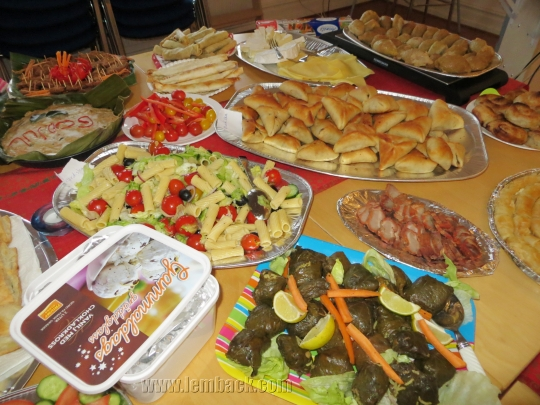 Smorgasbord of different food