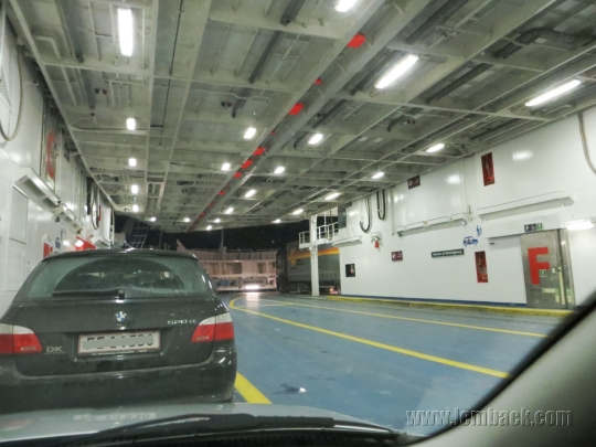 Winter roadtrip: on a ferry