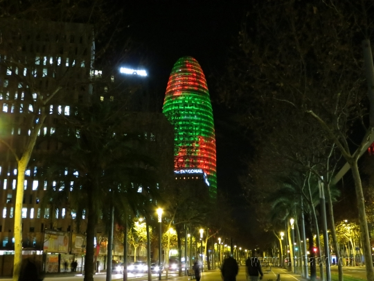 Torre Agbar in colors