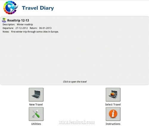 Just The Right Travel Diary App