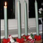 Advent Candles and Candlestick