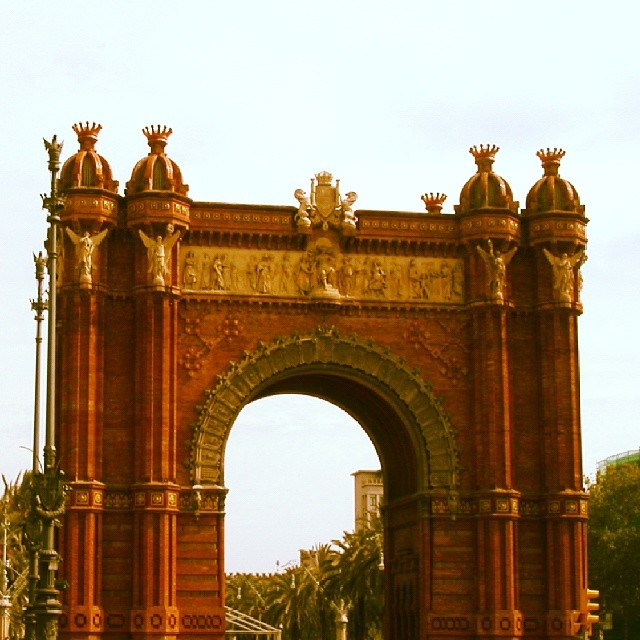 The Arc de Triomf in Barcelona. #travelphoto #travelgram #travel #Barcelona