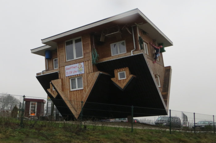View From The Road: Upside-Down House and Spider Man?