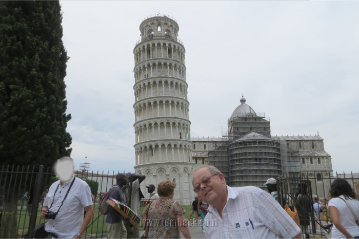 Leaning Tower of Pisa poked