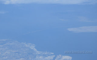 The Öresunds Bridge As Seen From The Sky