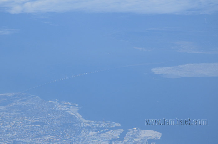 Oresunds Bridge from sky