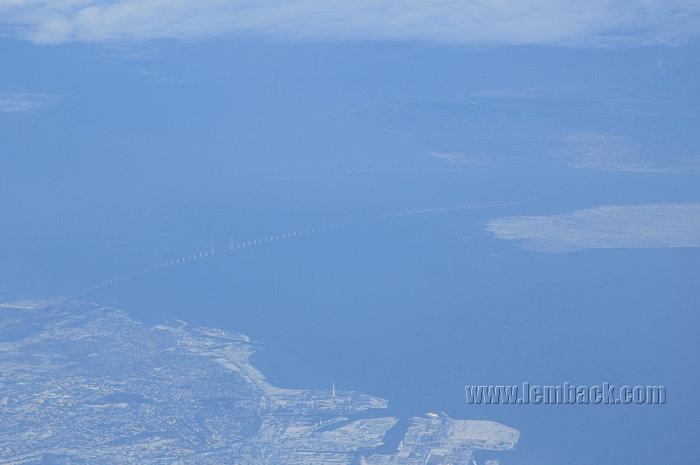 The Öresunds Bridge As Seen From The Sky