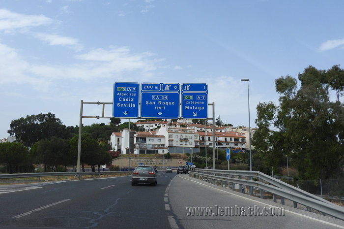 Driving in Malaga