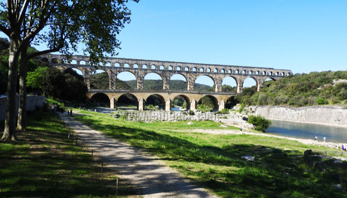 The Historical Pont du Gard in France