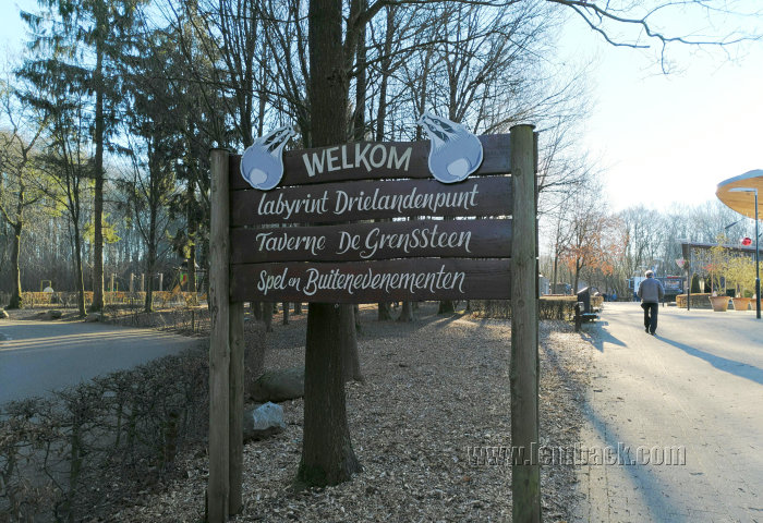 Welcome sign at Drielandenpunt